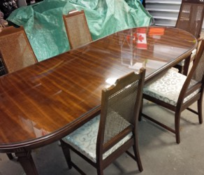 Gibbard Dining Room Table Set – Solid Rosewood  – $550