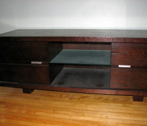 Modern TV Bench with DVD Storage, $250 OBO