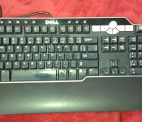 Dell SK-8135 Multimedia USB HUB Computer Keyboard – $45