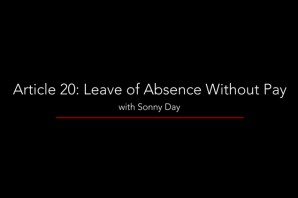 Article 20 – Leave of Absence Without Pay