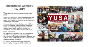 YUSA Celebrates International Women's Day