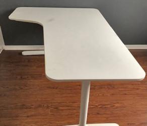 """Bekant Corner desk-left, white 63×43 1/4 """" (160×110 cm) – from Ikea"""
