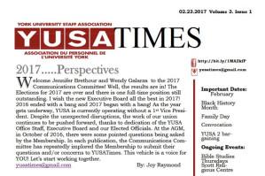 February 2017 YUSAPUY Newsletter
