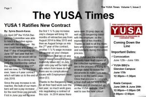 Summer 2015 YUSAPUY Newsletter
