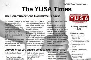Spring 2015 YUSAPUY Newsletter