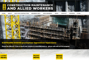 Construction Maintenance and Allied Workers Join CCU